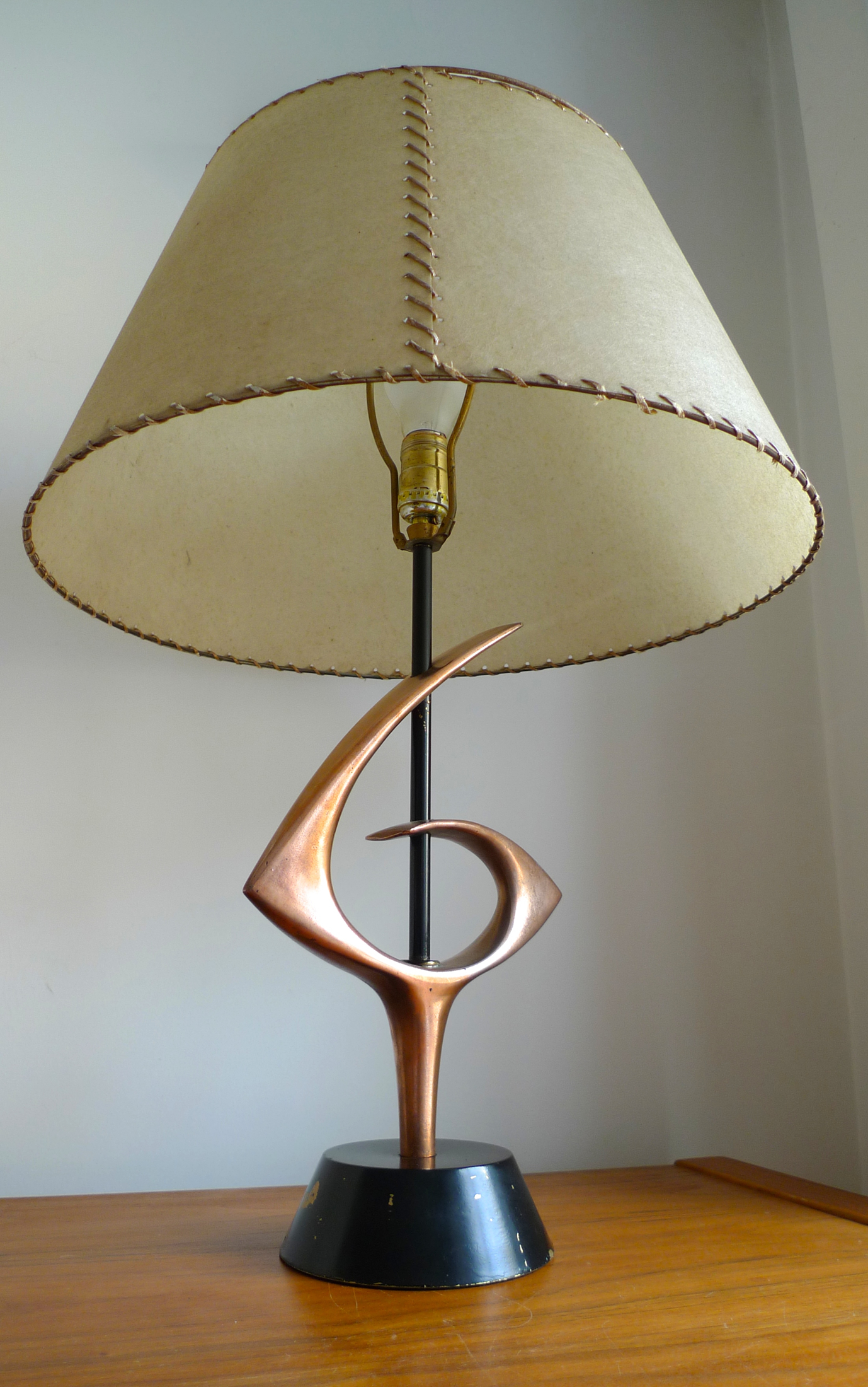 1950 S Rembrandt Table Lamp With Fibreglass Shade Place