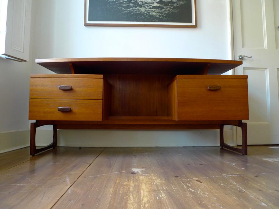 Mid Century G Plan Quadrille Teak Desk Dressing Table